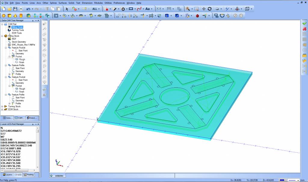 Screenshot from my new Bobcad